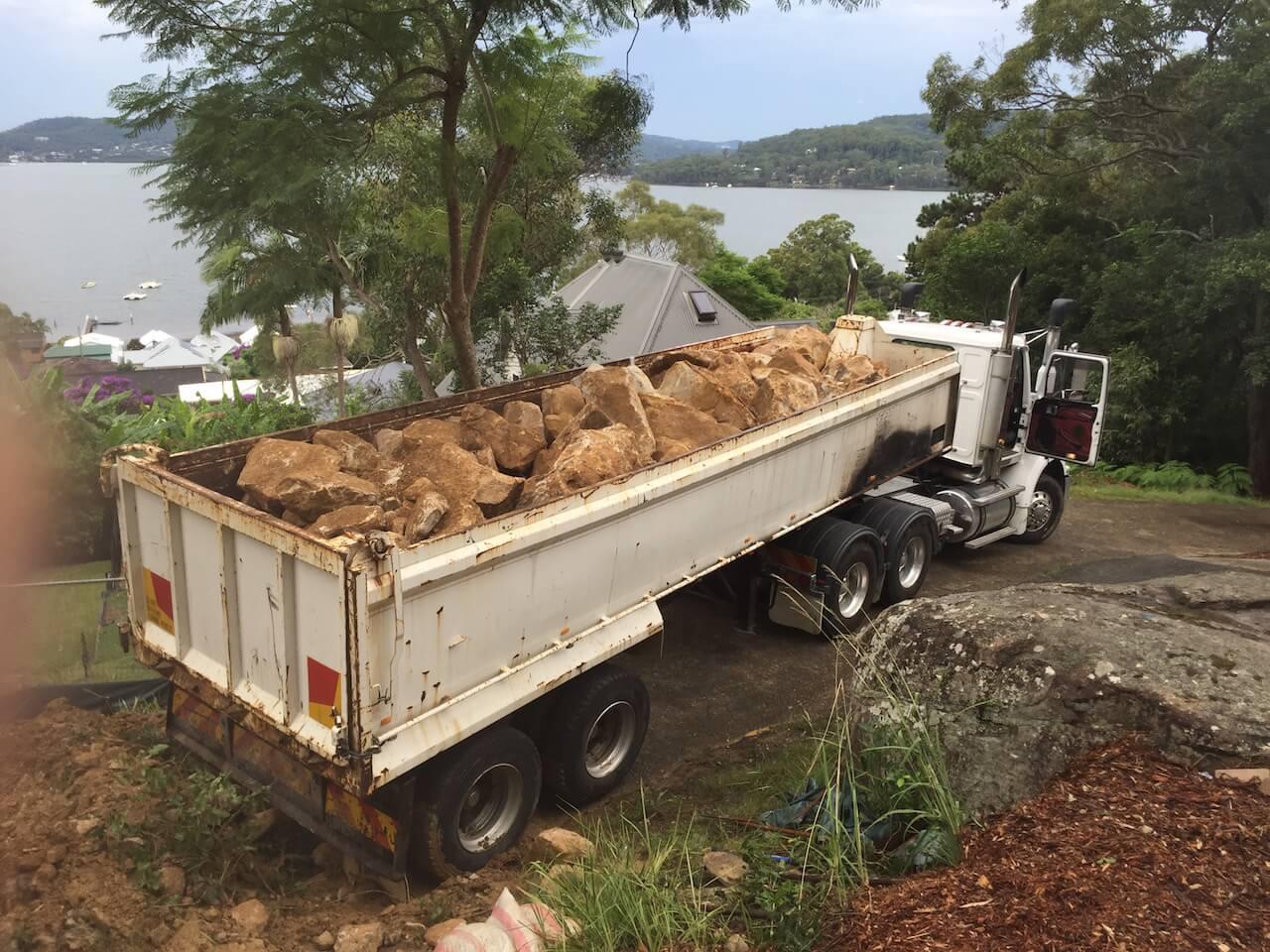 Rock Excavation in truck