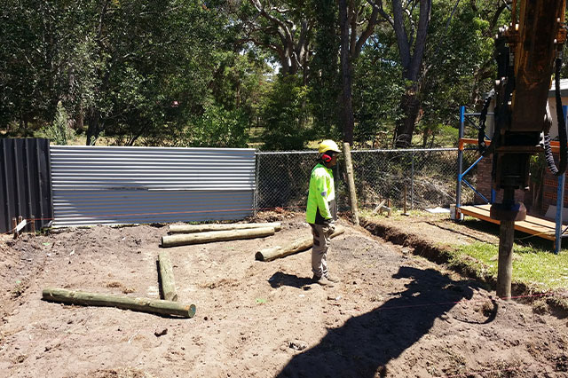 Timber Mini Piling Lake Macquarie